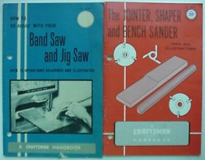 Jointer/shaper/sander/saws sears, Roebuck & Co 1965 Craftsman Handbooks 69
