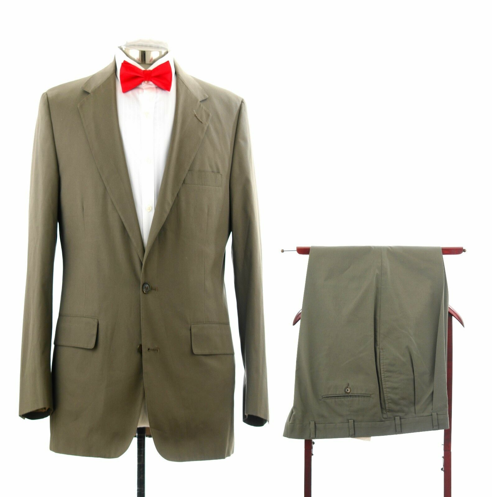 Brooks Brothers Olive Grün Suit Made in Usa From Imported Fabric Sz 42 R