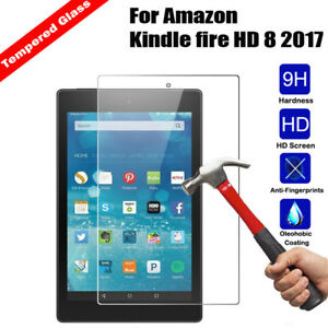 2c427cce02463d For Amazon Kindle fire HD 8 2017 8.0 Tablet Tempered Glass Screen ...