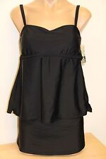 NWT Island Escape Swimsuit Tankini 2pc Set Skirt Plus Sz 18W Skirt Black