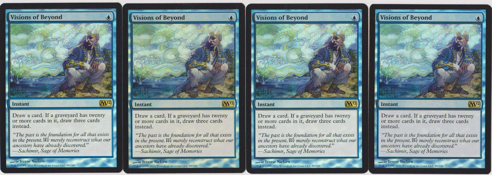 Foil Visions of Beyond - - - Magic 2012 X4 MTG 880cad