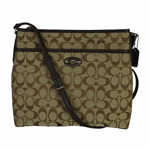 b73f046c9e Coach Khaki mahogany 12 Cm Signature File Crossbody Bag 36378 for ...