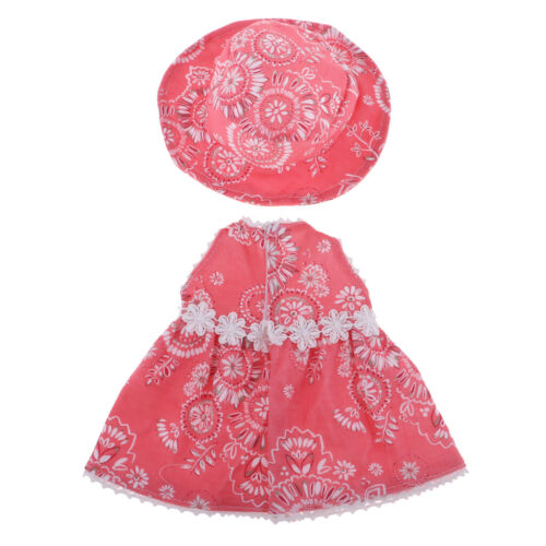 MagiDeal Handmade Girl Doll Skirt with Hat for 18inch AG American Doll Clothes