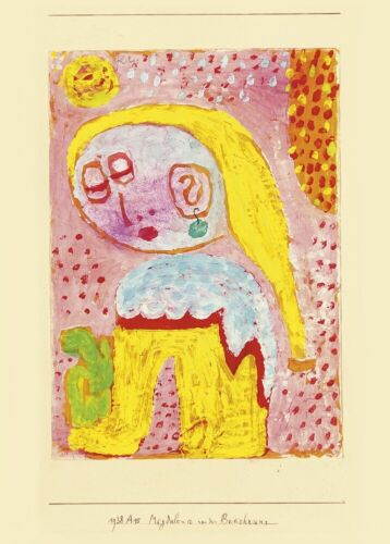 Magdalena before the conversion PAUL KLEE Expressionism Surrealism Cubism Poster