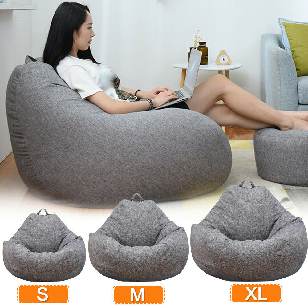 Tremendous Adults Kid Large Bean Bag Chair Sofa Couch Cover Indoor Lazy Lounger Caraccident5 Cool Chair Designs And Ideas Caraccident5Info