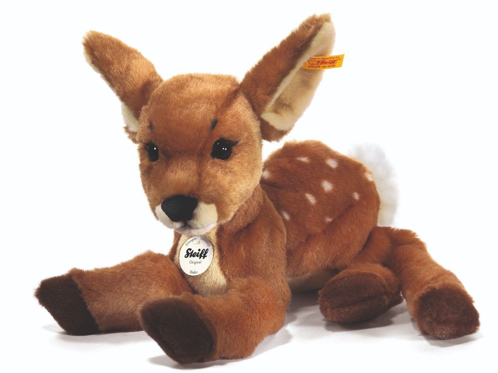 Steiff Rieke Fawn / deer classic plush washable soft toy - 35cm - EAN 070433