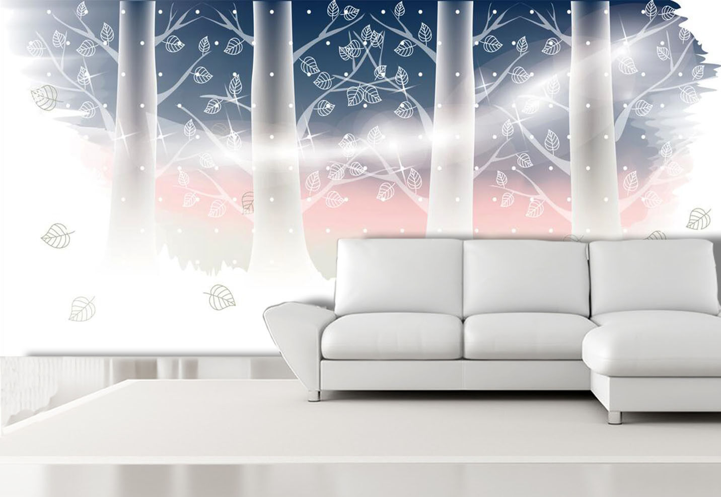 3D Fashional Tree Pattern 1 Wall Paper Print Decal Wall Deco Indoor wall Mural
