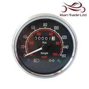 100 Kph To Mph >> Speedometer Classic 0 160 Kph 0 100 Mph Black Dial Face Speedo Miles