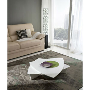 Dettagli su Tavolino da caffè girevole modello Emma tavolino per salotto  moderno