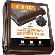 Texsport Heavy-Duty Reinforced Multi-Purpose Waterproof Brown Tarp