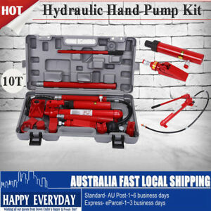 10T Air & Manual Portable Hydraulic Bottle Jack Kit For ...