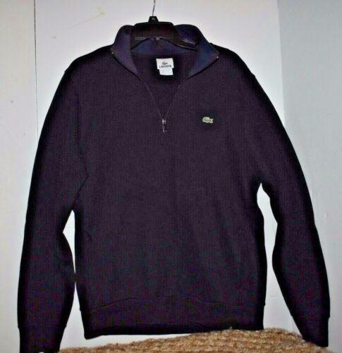 cotone Uomo maglione Lacoste 6 Us Taglia 100 Zip 1 nero Xl 4 qAYwIY