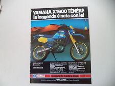 advertising Pubblicità 1987 MOTO YAMAHA XT 600 TENERE'