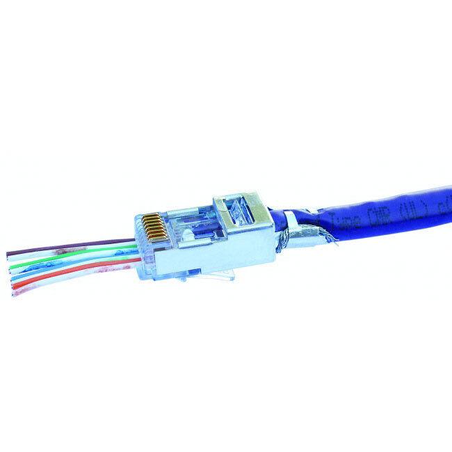 Platinum Tools 202022J Cat Cat Cat 5e 6 Blindado Conector EZ-RJ45 con terreno externo  elige tu favorito