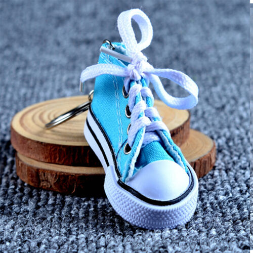 1x Canvas Cool Top Sneaker Tennis Shoes Key Chain Ring Keyring Women Man SK