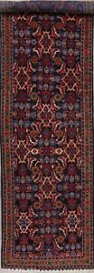 Excellent-Navy-Blue-14-ft-LONG-Runner-Sultanabad-Oriental-Wool-Rug-Handmade-4x14