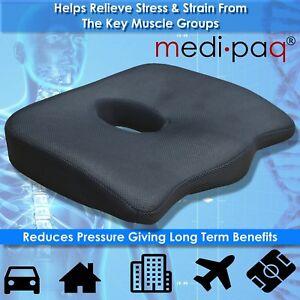 Medipaq-Orthopedic-Coccyx-Seat-Cushion-Lumbar-Spine-Tail-Bone-Back-Pain-Relief
