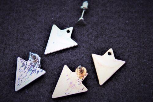 Triángulo de oro o plata pendientes STEAMPUNK Geométrica Boho de Moda Fiesta Regalo