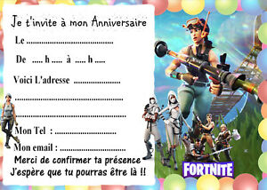 5 cartes invitation anniversaire fortnite 04 ebay