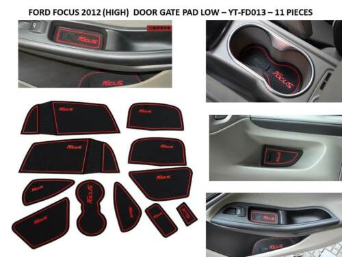 INTERIOR DASHBOARD GATE PAD MATS FORD FOCUS RED ONLY 2012-2015