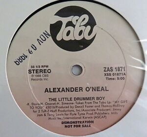 ALEXANDER O'NEAL 3 TRACK PROMO LITTLE DRUMMER BOY MY GIFT TO YOU SLEIGH RIDE LP