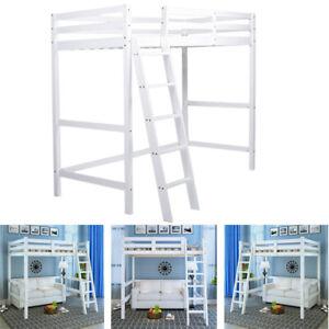 Kids Bunk Beds High Tall Sleeper And Ladder Wooden Cabin ...