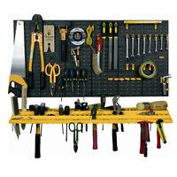 Garage Tool Rack Wall Workshop Storage Kit Plastic Pegboard 50 Hooks Shed Tidy