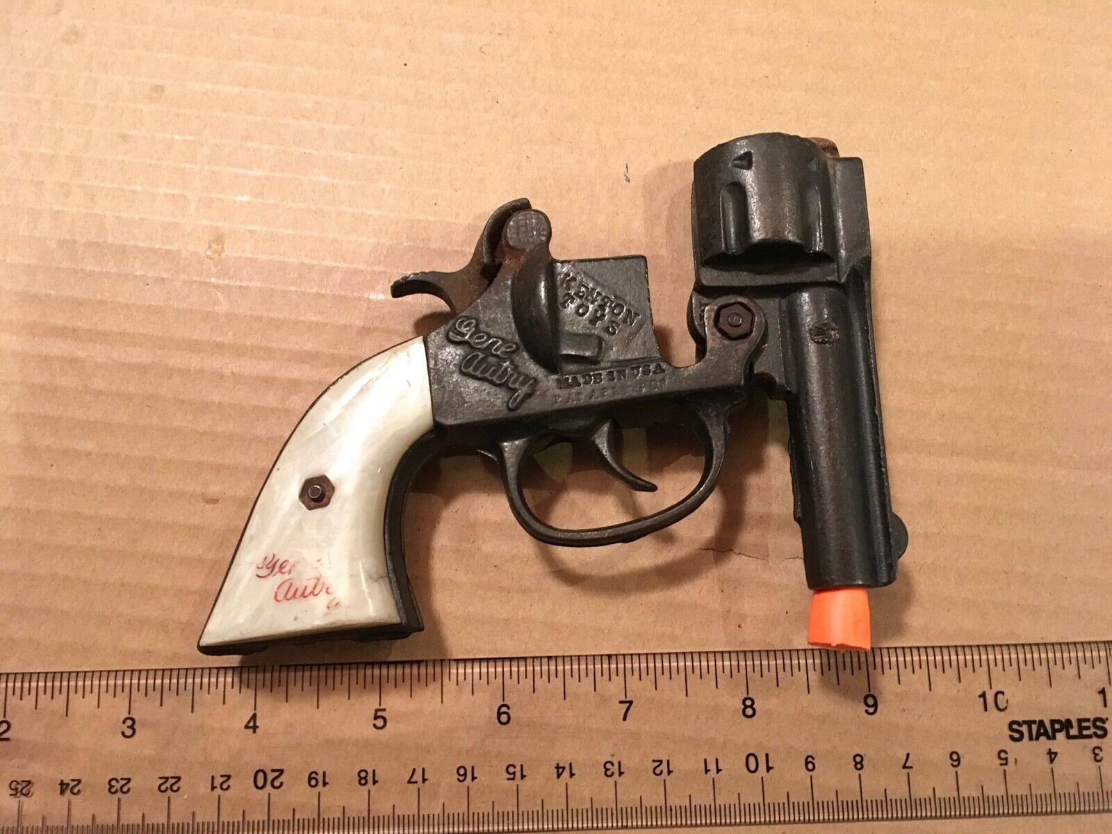 Vintage Gene Autry Cast Iron Kenton Toys Cap Gun Gun Gun 3rd Model – 1940's era 7d6487