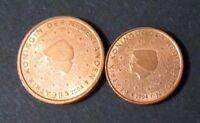 1 + 2 Cent Euro Sonder-Münze Niederlande Prägejahr 2004 aus Umlauf Sammler