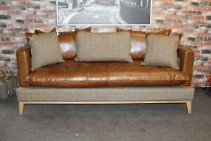 Aniline Leather Portland 3 Seater Sofa