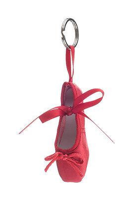 Todos los colores Satén Pointe Ballet Zapato Llavero Cadena Por Katz Dancewear Navidad