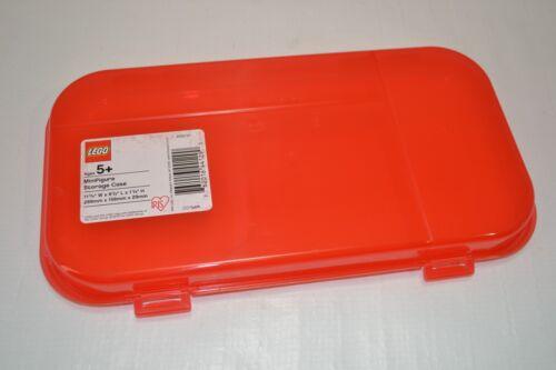 "LEGO MiniFigure RED Storage Case Box Display NEW 11/"" x 6/"" Iris Plastic FAST SHIP"