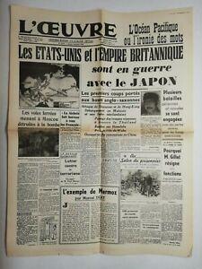 N714-La-Une-Du-Journal-L-039-uvre-9-decembre-1941-les-Etats-Unis-l-039-empire-britanni