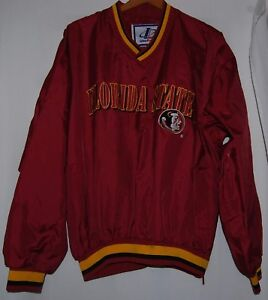 6f72fa6f666 Image is loading Vintage-Florida-State-College-Seminoles-Pullover-Satin- Jacket-
