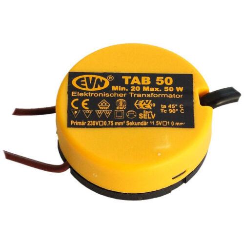 EVN Elektr.Trafo 20-50W 11,5V dm 48mm schwarz//gelb