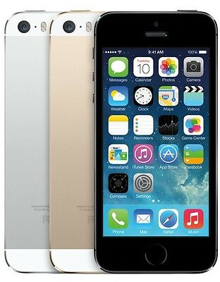Apple iPhone 5s 16GB Unlocked GSM Smartphone 4G LTE Silver & Gold & Space Gray