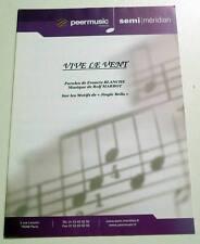 Partition sheet music FRANCIS BLANCHE : Vive le Vent (Jingle Bells) * 50's