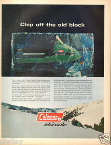 1970-LARGE-Print-Ad-of-Coleman-Skiroule-Snowmobile-Snow-Machine