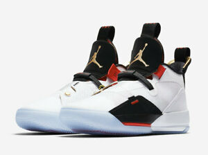 4735957ac96 NIKE AIR JORDAN XXXIII FUTURE OF FLIGHT SHOE [MEN'S SIZE 11] WHT/BLK ...
