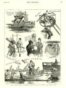 1875-Antique-Print-UNIVERSITY-BOAT-RACE-Oxford-Cambridge-Crew-Press-Boat-136
