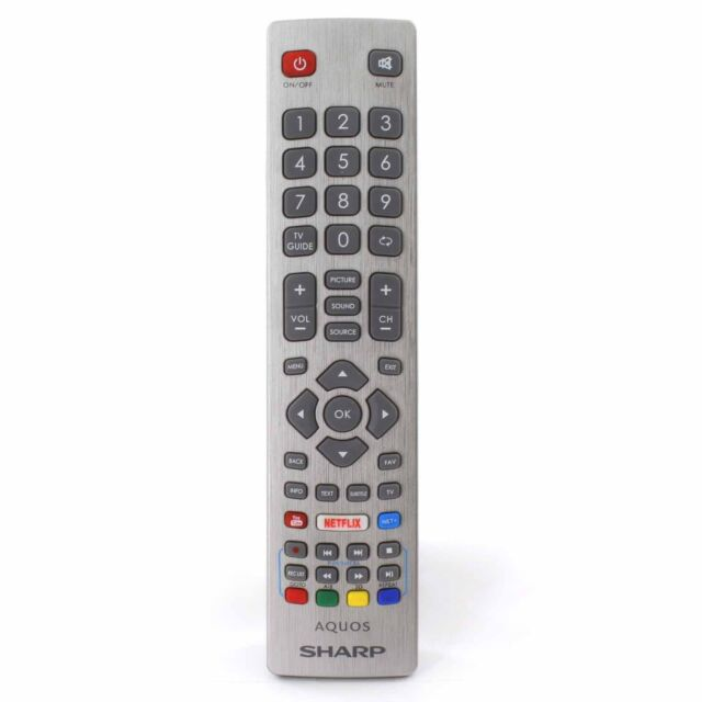 Genuine Sharp AQUOS Smart TV Remote Control With 3d YouTube Netflix Buttons