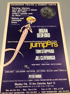 Jumpers - Kennedy center Broadway Window Card Poster 14x22 Brian Bedford (read)