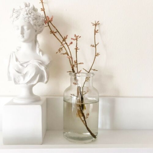 Vintage Style Clear Glass Bottle Bud Flower Vase Chic Wedding Table Decoration