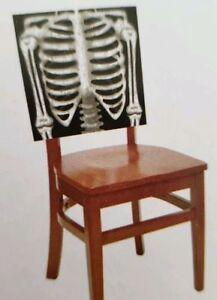 happy halloween 2 skeleton chair party slip covers 21 x 20 ebay