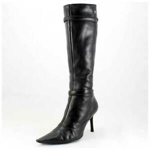 Buffalo Stiefel Gr. 39 High Heels Lederstiefel schwarz (#2418)