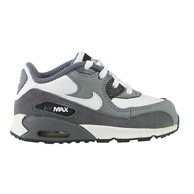 Nike Air Max 90 Toddlers 408110 123 White Dark Cool Grey Shoes Baby Size 2 675911814758 | eBay