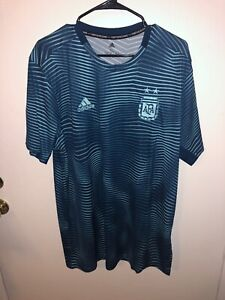 Details about ADIDAS ARGENTINA HOME PRE MATCH SOCCER TRAINING JERSEY DP2838 NEW