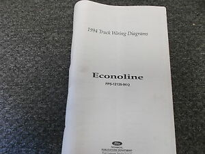 1994 Ford Econoline Van Factory Original Electrical Wiring ...