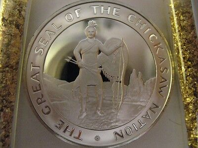 GOLD 7//8-OZ.COUSHATTA NATIVE AMERICAN INDIAN TRIBAL NATIONS COIN SILVER.999
