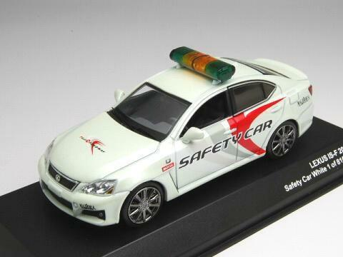 J-Collection 1 43 Lexus IS-F 2008 Safety Car White Limited Edition from Japan